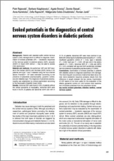 Evoked potentials in the diagnostics of central nervous system disorders in diabetic patients
