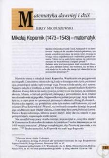 Mikołaj Kopernik (1473-1543) - matematyk