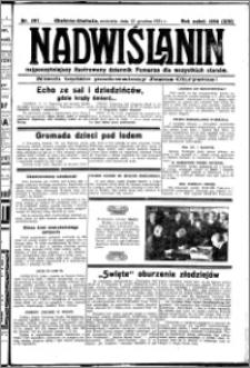 Nadwiślanin. Gazeta Ziemi Chełmińskiej, 1931.12.13 R. 13 nr 287