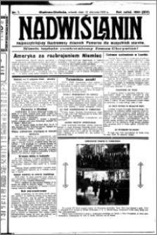 Nadwiślanin. Gazeta Ziemi Chełmińskiej, 1932.01.12 R. 14 nr 7