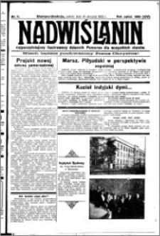 Nadwiślanin. Gazeta Ziemi Chełmińskiej, 1932.01.16 R. 14 nr 11