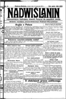 Nadwiślanin. Gazeta Ziemi Chełmińskiej, 1932.01.19 R. 14 nr 13