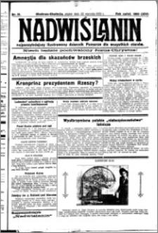 Nadwiślanin. Gazeta Ziemi Chełmińskiej, 1932.01.22 R. 14 nr 16