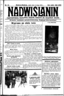 Nadwiślanin. Gazeta Ziemi Chełmińskiej, 1932.02.12 R. 14 nr 33