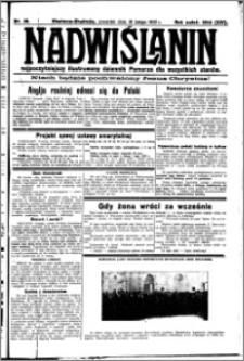 Nadwiślanin. Gazeta Ziemi Chełmińskiej, 1932.02.18 R. 14 nr 38