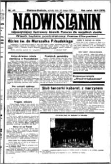 Nadwiślanin. Gazeta Ziemi Chełmińskiej, 1932.02.20 R. 14 nr 40