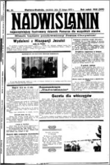 Nadwiślanin. Gazeta Ziemi Chełmińskiej, 1932.02.21 R. 14 nr 41