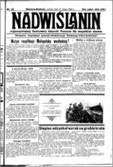 Nadwiślanin. Gazeta Ziemi Chełmińskiej, 1932.02.27 R. 14 nr 46
