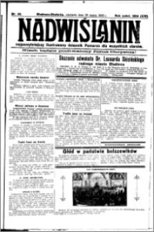 Nadwiślanin. Gazeta Ziemi Chełmińskiej, 1932.03.20 R. 14 nr 65