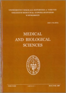 Medical and Biological Sciences 2009, T. XXIII, sup. 2
