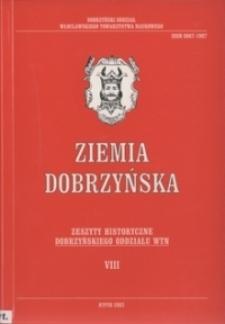 Ziemia Dobrzyńska : Zeszyty Historyczne Dobrzyńskiego Oddziału WTN, VIII