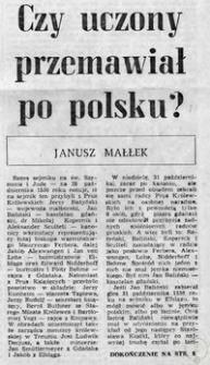 Czy uczony przemawiał po polsku