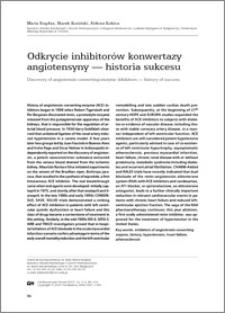 Odkrycie inhibitorów konwertazy angiotensyny - historia sukcesu