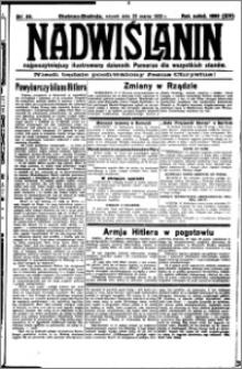 Nadwiślanin. Gazeta Ziemi Chełmińskiej, 1932.03.22 R. 14 nr 66