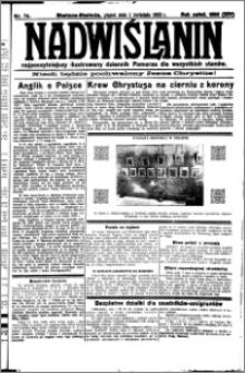 Nadwiślanin. Gazeta Ziemi Chełmińskiej, 1932.04.01 R. 14 nr 74