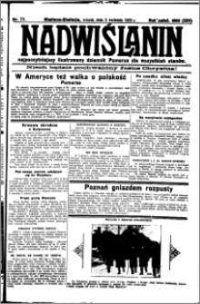 Nadwiślanin. Gazeta Ziemi Chełmińskiej, 1932.04.05 R. 14 nr 77