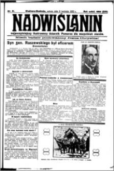 Nadwiślanin. Gazeta Ziemi Chełmińskiej, 1932.04.09 R. 14 nr 81