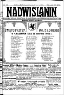 Nadwiślanin. Gazeta Ziemi Chełmińskiej, 1932.06.12 R. 14 nr 132