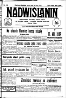 Nadwiślanin. Gazeta Ziemi Chełmińskiej, 1932.07.16 R. 14 nr 159