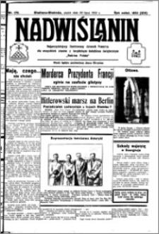 Nadwiślanin. Gazeta Ziemi Chełmińskiej, 1932.07.29 R. 14 nr 170