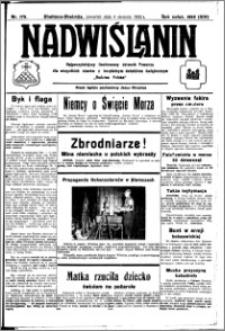 Nadwiślanin. Gazeta Ziemi Chełmińskiej, 1932.08.04 R. 14 nr 175