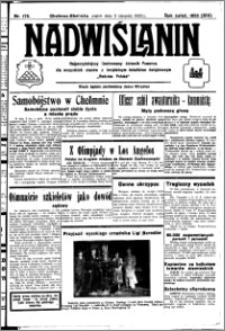 Nadwiślanin. Gazeta Ziemi Chełmińskiej, 1932.08.05 R. 14 nr 176