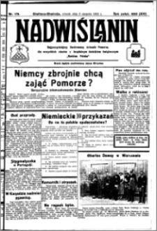Nadwiślanin. Gazeta Ziemi Chełmińskiej, 1932.08.09 R. 14 nr 179