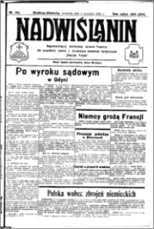 Nadwiślanin. Gazeta Ziemi Chełmińskiej, 1932.09.04 R. 14 nr 201