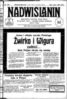 Nadwiślanin. Gazeta Ziemi Chełmińskiej, 1932.09.13 R. 14 nr 208
