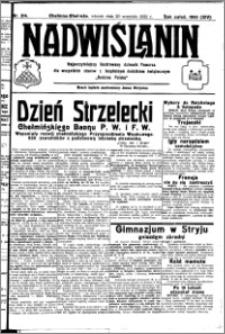 Nadwiślanin. Gazeta Ziemi Chełmińskiej, 1932.09.20 R. 14 nr 214