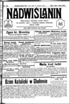 Nadwiślanin. Gazeta Ziemi Chełmińskiej, 1932.09.21 R. 14 nr 215