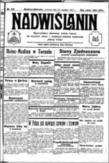 Nadwiślanin. Gazeta Ziemi Chełmińskiej, 1932.09.22 R. 14 nr 216