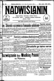 Nadwiślanin. Gazeta Ziemi Chełmińskiej, 1932.09.28 R. 14 nr 221