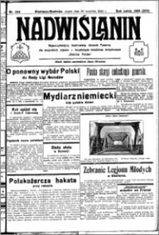 Nadwiślanin. Gazeta Ziemi Chełmińskiej, 1932.09.30 R. 14 nr 223