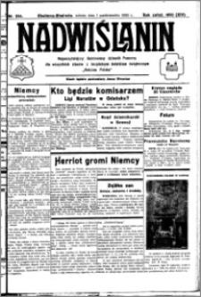 Nadwiślanin. Gazeta Ziemi Chełmińskiej, 1932.10.01 R. 14 nr 224