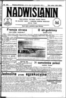 Nadwiślanin. Gazeta Ziemi Chełmińskiej, 1932.10.29 R. 14 nr 248