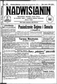 Nadwiślanin. Gazeta Ziemi Chełmińskiej, 1932.10.30 R. 14 nr 249