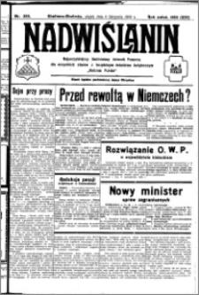 Nadwiślanin. Gazeta Ziemi Chełmińskiej, 1932.11.04 R. 14 nr 252