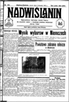 Nadwiślanin. Gazeta Ziemi Chełmińskiej, 1932.11.08 R. 14 nr 255