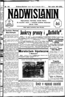 Nadwiślanin. Gazeta Ziemi Chełmińskiej, 1932.11.16 R. 14 nr 261