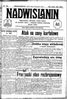 Nadwiślanin. Gazeta Ziemi Chełmińskiej, 1932.11.18 R. 14 nr 263