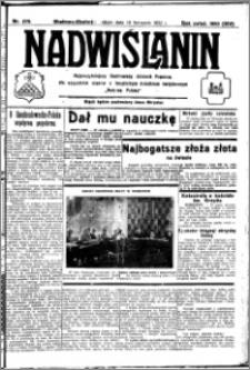 Nadwiślanin. Gazeta Ziemi Chełmińskiej, 1932.11.26 R. 14 nr 270