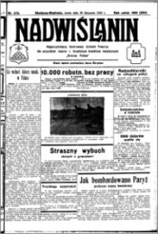 Nadwiślanin. Gazeta Ziemi Chełmińskiej, 1932.11.30 R. 14 nr 273