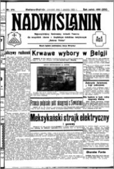 Nadwiślanin. Gazeta Ziemi Chełmińskiej, 1932.12.01 R. 14 nr 274