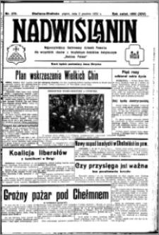 Nadwiślanin. Gazeta Ziemi Chełmińskiej, 1932.12.02 R. 14 nr 275