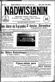 Nadwiślanin. Gazeta Ziemi Chełmińskiej, 1932.12.03 R. 14 nr 276