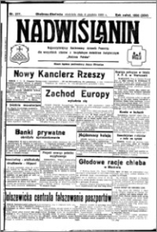 Nadwiślanin. Gazeta Ziemi Chełmińskiej, 1932.12.04 R. 14 nr 277