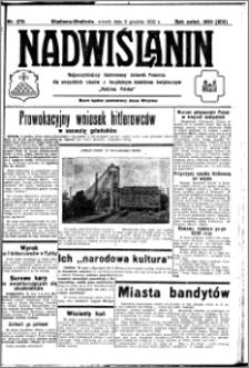 Nadwiślanin. Gazeta Ziemi Chełmińskiej, 1932.12.06 R. 14 nr 278