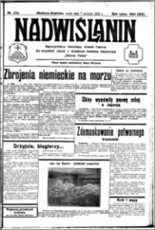 Nadwiślanin. Gazeta Ziemi Chełmińskiej, 1932.12.07 R. 14 nr 279