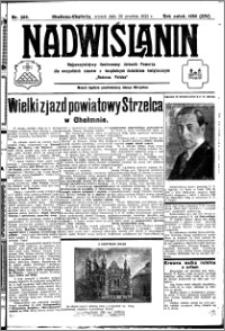 Nadwiślanin. Gazeta Ziemi Chełmińskiej, 1932.12.20 R. 14 nr 289